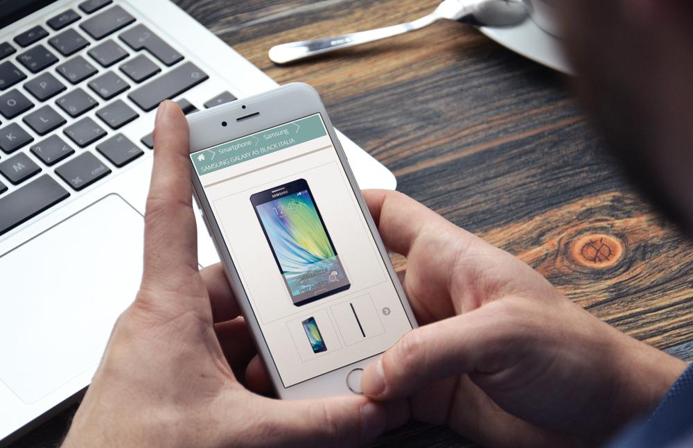 Creazione sito ExpoitalyShop: ecommerce visto da smartphone