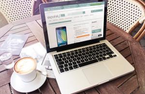 Creazione sito ExpoitalyShop: scheda prodotto vista da notebook