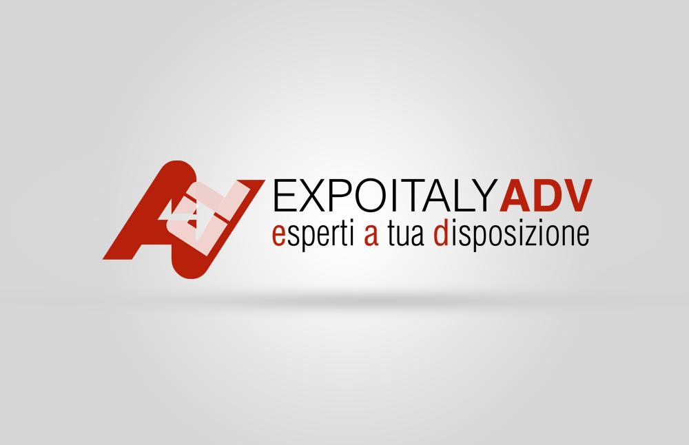 Creazione website e logo ExpoitalyAdv: logo virtuale