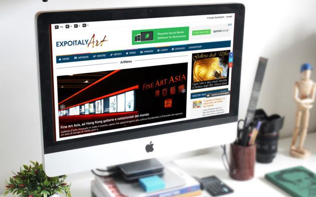 Creazione sito Expoitalyart: versione pc desktop