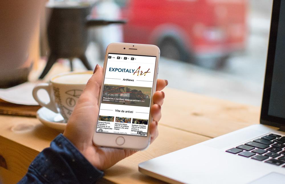 Creazione sito Expoitalyart: versione per smartphone