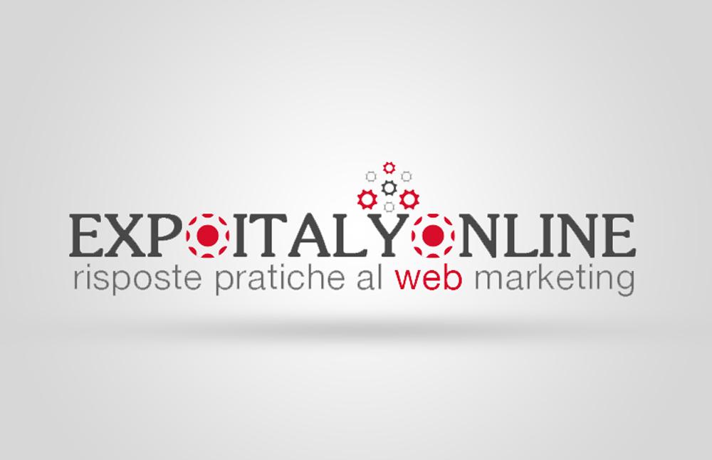 Website e logo Expoitalyonline: logo virtuale per il portale
