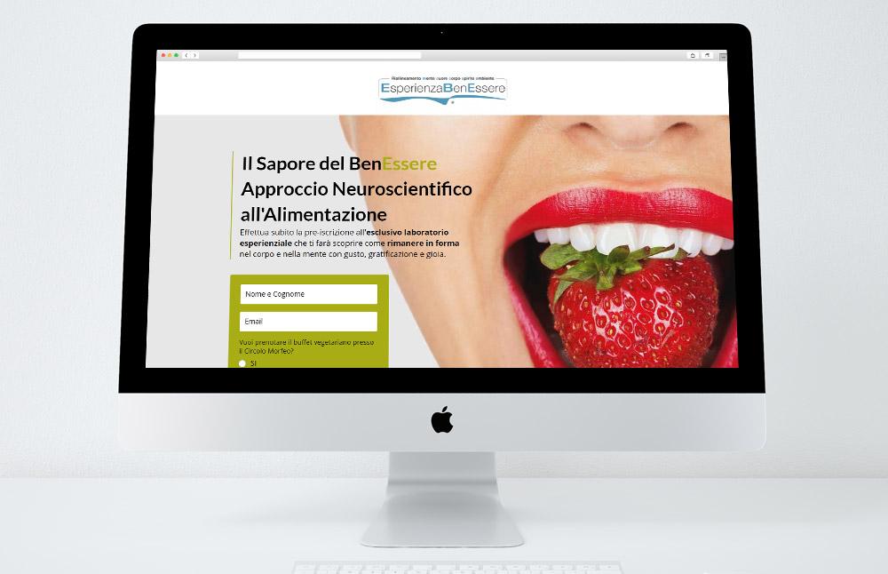 Landing Page Il Sapore del BenEssere - vista da pc desktop