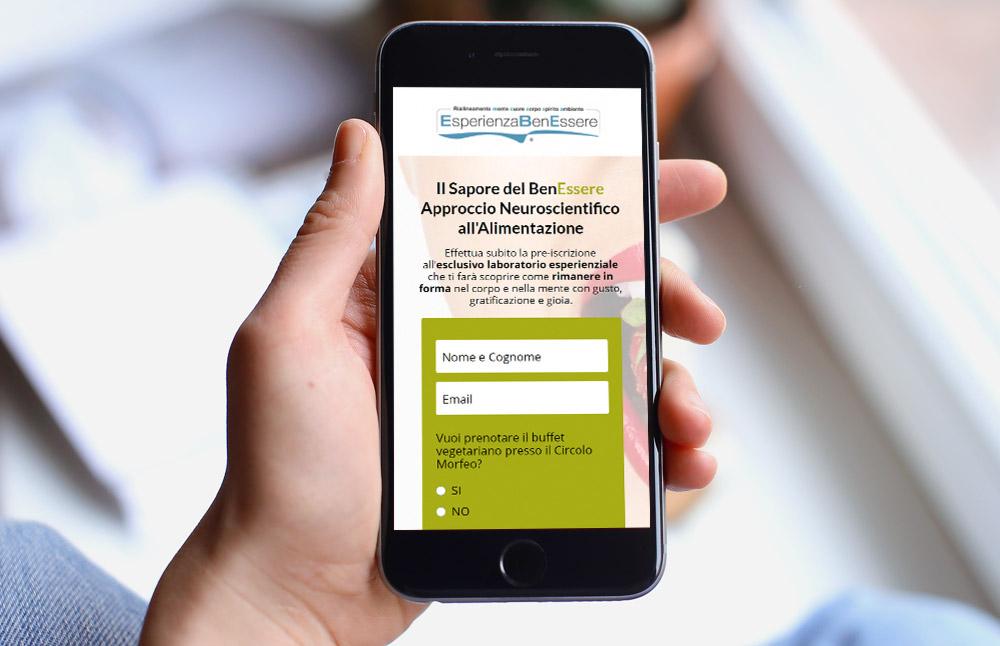 Landing Page Il Sapore del BenEssere - versione per smartphone
