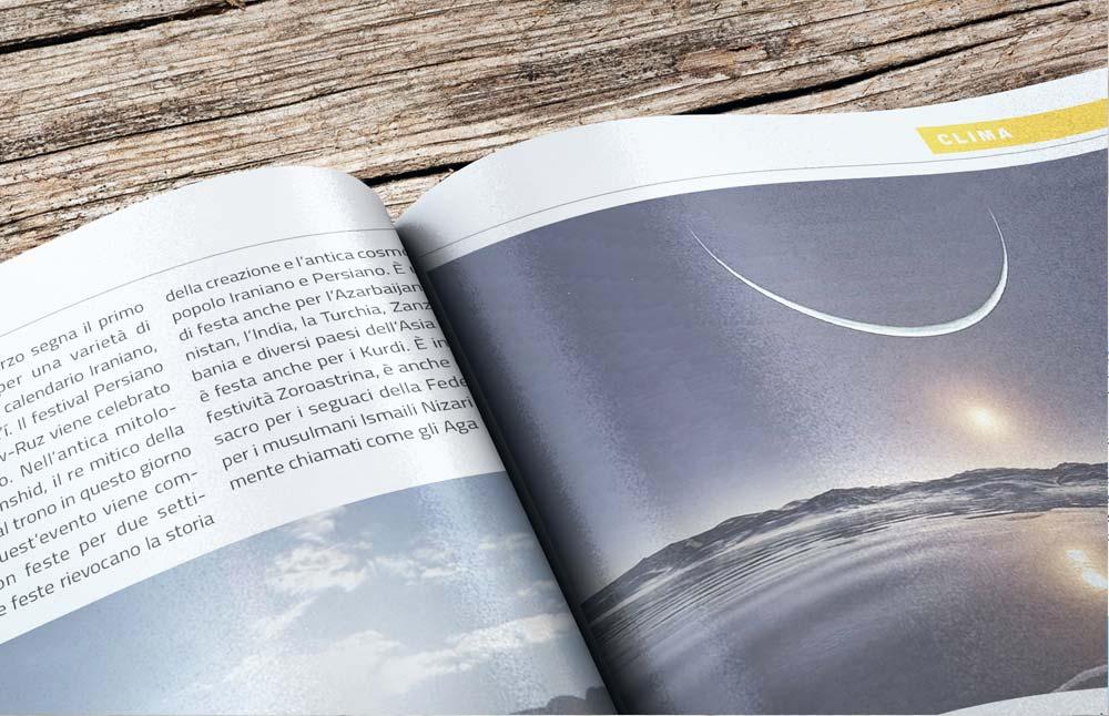 Layout grafico Scripta Manent: dossier sui cambiamenti del clima