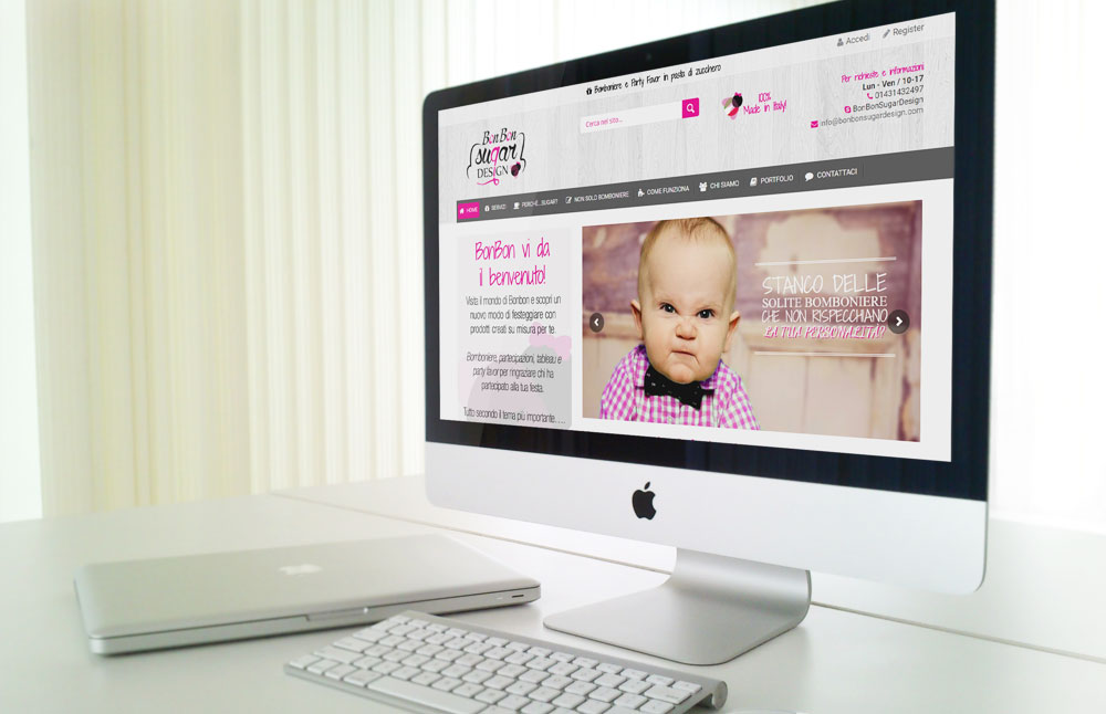 Bonbon Sugar Design website: versione per pc desktop