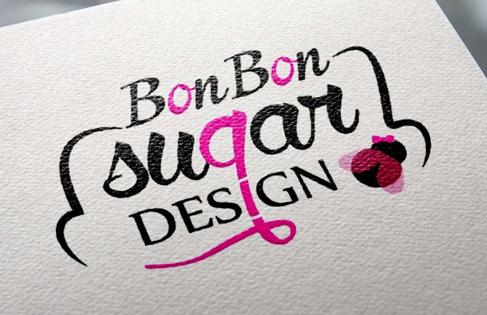 Bonbon Sugar Design immagine coordinata: logo stampato su carta