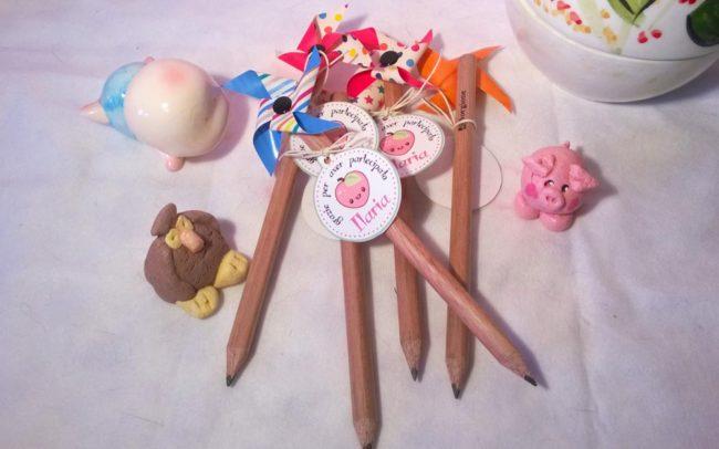 Party Favor matite girandole realizzate a mano con matite grosse